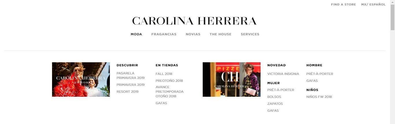 menú diseño web 2019