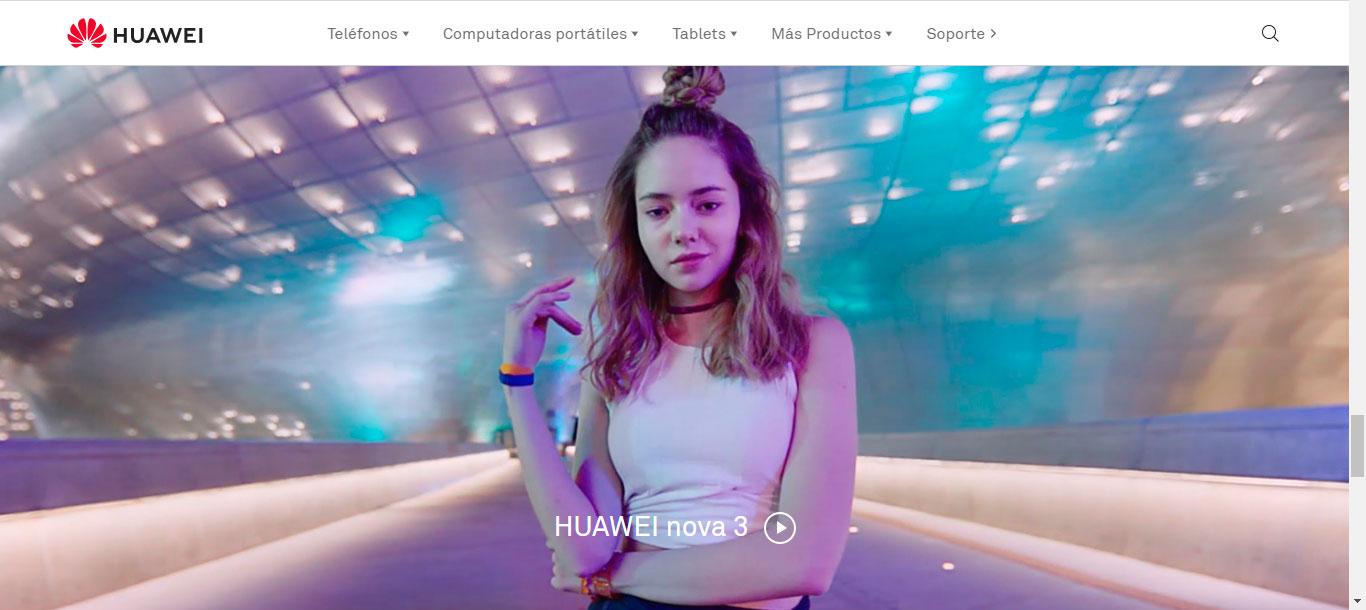 tendencias 2019 diseño web huawei